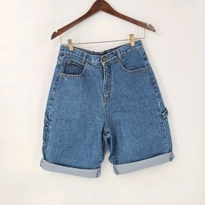 Retro Cherokee Denim High Waisted Bermuda Shorts